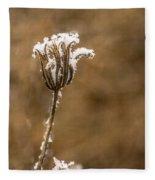 Frosty Flower Remains Fleece Blanket