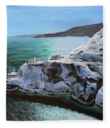 Frosty Fort Amherst Fleece Blanket