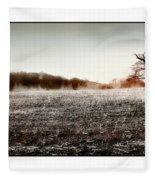 Frosty Landscape Fleece Blanket