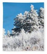 Frosty Mountainside Fleece Blanket