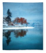 Frosty Reflection Fleece Blanket