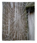 Frosty Web Fleece Blanket