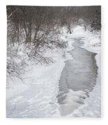 Frozen Brook Fleece Blanket