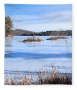 Frozen Bryant Pond Fleece Blanket