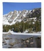 Frozen Colorado Lake Fleece Blanket