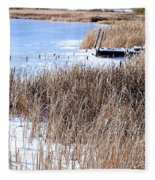 Frozen Dock Fleece Blanket