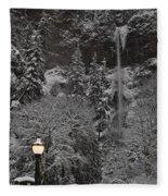 Frozen Dusk Fleece Blanket