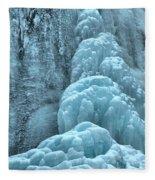 Frozen Falls Along The Icefields Parkway Fleece Blanket