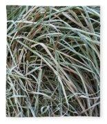Frozen Grass - Ground Frost Fleece Blanket