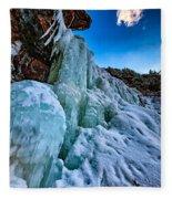 Frozen Kaaterskill Falls Fleece Blanket