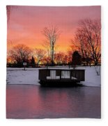 Frozen Sunrise Fleece Blanket