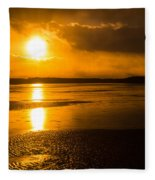 Frozen Sunset Fleece Blanket