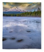 Frozen Trillium Fleece Blanket