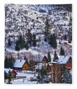 Frozen Village V2 Fleece Blanket
