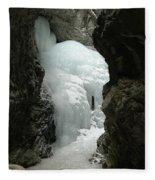 Frozen Zapata Falls Fleece Blanket