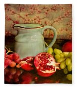 Fruit And Pitcher Fleece Blanket
