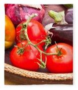 Fruit And Vegetables Fleece Blanket