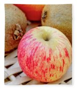 Fruit Basket. Apple. Fleece Blanket