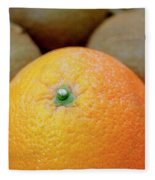 Fruit Basket. Orange. Fleece Blanket