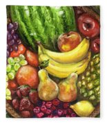 Fruit Basket Fleece Blanket