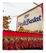 Fruit Basket Stand Fleece Blanket