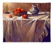 Fruit By Candle Light Fleece Blanket