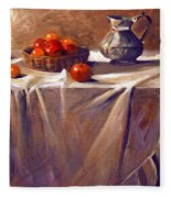 Fruit By Candle Light Fleece Blanket