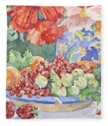 Fruit On A Plate Fleece Blanket