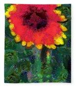 Fruit Salad Flower Fleece Blanket