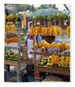 Fruit Stand Antigua  Guatemala Fleece Blanket