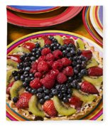 Fruit Tart Pie Fleece Blanket