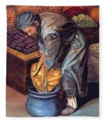 Fruit Vendor Fleece Blanket