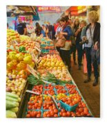 Fruits And Vegetables - Pike Place Market Fleece Blanket
