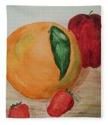 Fruits Of All Seasons Fleece Blanket