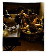 Fruits Of France Fleece Blanket