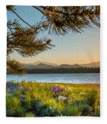 Frye Lake Flowers Fleece Blanket