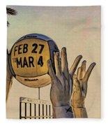 Ft Lauderdale Volleyball Time Fleece Blanket