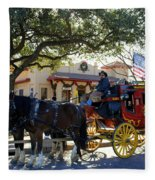 Ft Worth Stockyards Stagecoach  Fleece Blanket