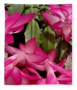 Fuchsia Christmas Cactus Fleece Blanket