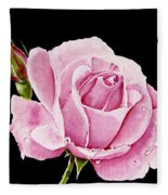 Fuchsia Rose Fleece Blanket