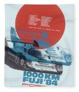 Fuji 1000 Kilometres Porsche 1984 Fleece Blanket