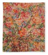 Full Bouquet. Fleece Blanket