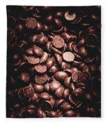 Full Frame Background Of Chocolate Chips Fleece Blanket