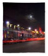 Full Moon And Night Clubs Fleece Blanket