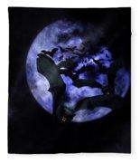 Full Moon Bats Fleece Blanket