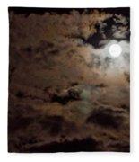 Full Moon Cloudy Night Fleece Blanket