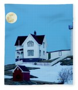Full Moon Nubble Fleece Blanket