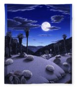 Full Moon Rising Fleece Blanket