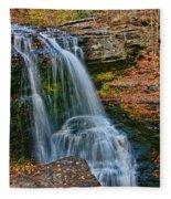 Fulmer Falls - Childs State Park Fleece Blanket