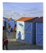 Fun At Mondello Beach Fleece Blanket